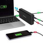 111W Power Delivery Chargeur USB C, 5 Ports USB Type C Adaptateur secteur avec 87W PD Port chargeur, 4 port USB Chargeur (Total 24W) et cordon d'alimentation EU standard pour MacBook Pro, Google Pixel 2 …
