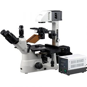 AmScope In480tb-fl 40x -1200x Phase Contraste Fluorescence microscope inversé