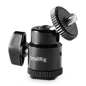SMALLRIG® Rotule Hot Shoe avec 1/4″ Filetage pour Réflex Canon, Nikon, Olympus, Pentax, Panasonnic, Fujifilm et Kodak — 761