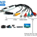 DIGITNOW! Vidéo Capture Convertisseur ,HD 1080i USB Enregistreur Hi8 DV VHS Cassettes Magnetoscope vers DVD Numérique for Mac e Windows 10
