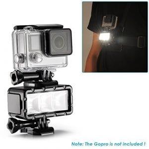 Neewer® 3 LED POV Flashe Réglable Torche Plongée Sous-marine 30m Étanche pour Gopro Hero4 Session, Hero 4, 3+, 3, 2, 1, SJ4000/5000/6000/7000 et Autres Caméras d'Action (Batterie Non Incluse)