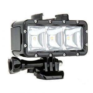 SHOOT Diving Light Lampe Plongée Sous Marine Imperméable Haute Puissance Dimmable LED Lumière pour GoPro Hero 6/5/4/3 +/3/HERO(2018)/Fusion Crosstour Campark APEMAN Tectectec –Normal (HI) Economie d'énergie (BAS), Flash (SOS)
