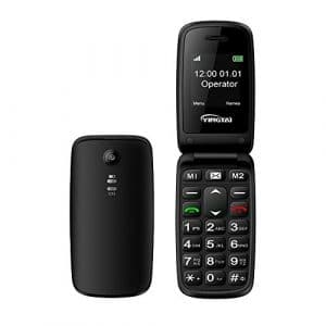 Téléphone Clapet Portable Mobile Senior avec Grandes Touches et Bouton Sos pour Personne Âgée by YINGTAI