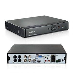 Westshine 4CH 4MP AHD / TVI / CVI / DVR hybride analogique / IP, H.264 HD 2560 * 1440P Enregistreur vidéo numérique de surveillance CCTV en temps réel, Prise en charge Onvif, Sortie HDMI, Détection de mouvement, Alerte email, Accès à distance, Réseau nuage P2P, QR Code Scan(NO HDD)