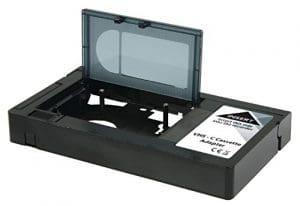 Magnétoscope VHS Lecteur C/VHS–Adaptateur cassette pour enregistreur (Attention–Ne convient pas pour DV Video8, Hi8