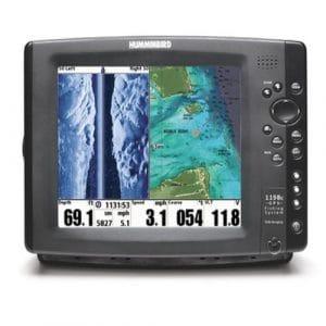 Sondeur Echo Radar Pêche FF1198c HD-Si Side Imaging, Sonde Traversante Plastique & Température