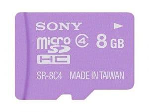 [Terns] Sony 8Go? Class4carte microSDHC Compatible (avec adaptateur SDHC/violet) Sr-8a4V [Japan Import]