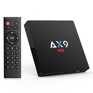 Android 7.1 TV Box 【2GB RAM+16GB ROM】 AX9 Max TV Box Quad-Core 64bit Wi-FI 2.4G 802.11 b/g/n Gigabit 4K Android Smart TV Box