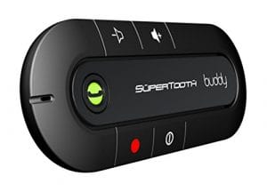 SuperTooth Kit-voiture mains libres Bluetooth pour pare-soleil Buddy – Noir