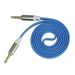 Audio Line, Vneirw 130cm Jack 3,5mm mâle vers mâle câble répartiteur audio auxiliaire de voiture pour téléphone portable, iPod, câble audio mâle vers femelle, câble répartiteur audio, câble auxiliaire pour voiture, Audio Line en câble, câble audio 3,5mm courte extension