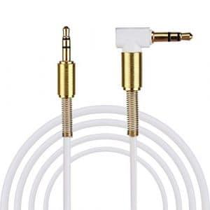 Audio Line, Vneirw mâle à 90degrés à droite grâce M Jack 3,5mm mâle vers mâle câble répartiteur audio auxiliaire de voiture pour téléphone portable, iPod, câble audio, câble répartiteur audio, câble auxiliaire pour voiture, Audio Line en câble, câble audio 3,5mm courte extension