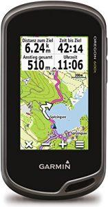 Garmin – Oregon 600t – GPS de randonnée – Ecran tactile anti-reflet 3'' – Cartographie Europe 1/100 000ème préchargée – Gris/Vert