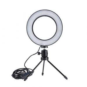 Carremark 64 Lampe de Studio à intensité Variable avec 64 Ampoules à Anneau de Fixation Selfie