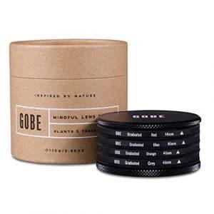Gobe – Filtres de Couleur 46mm Gradués: Orange, Bleu, Gris, Rouge