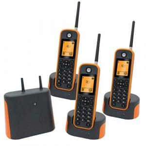 Health UK Téléphone Portable Portable sans Fil évolutif Longue Distance pour mère Talkie-walkie-Welcome, Plastique, Orange, 3