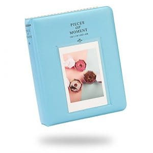 Lalo Novo 64 Poches Photo Album pour Fujifilm Instax Mini 7s 8 25 50 90 Film / Polaroid Z2300 PIC-300 Film / Nom de la carte – Bleu