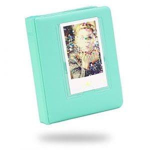 Lalo Novo 64 Poches Photo Album pour Fujifilm Instax Mini 7s 8 25 50 90 Film / Polaroid Z2300 PIC-300 Film / Nom de la carte – Vert