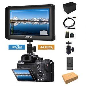 Noir Lilliput A7S-2 7 1920×1200 IPS Ecrans pouces Moniteur sur Caméra Field Monitor 4K HDMI Video DSLR Camera SONY A7 A7R A7S II A6500 Panasonic GH4 GH5 Canon 5D IV 6D 7D 70D 80D NIKON DJI Ronin M