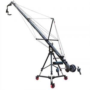 Proaim 7,3m Fraser (Pf-4tr Grue à flèche) avec PT-1000Pan Tilt Tête, Support de gravité et Ancre Dolly (Jb-fr4t-00)