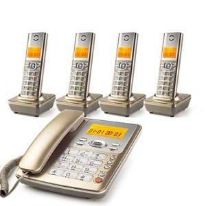Santé du Royaume-Uni téléphone Appel Interceptor et répondeur numérique, Orange avec Grand écran Bienvenue
