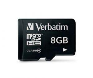VERBATIM Carte micro SD Class 4 8GO 44004+REDV