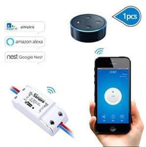 LeeHur Interrupteur sans fil en ABS avec contrôle à distance compatible avec Apple et Android