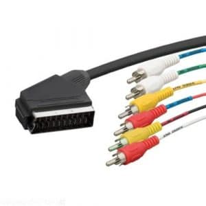 lscommerce® Câble vidéo audio péritel 21broches vers 6RCA 1,5mètres high quality Wall