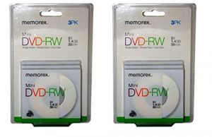 Mini DVD RW – Qté 6 (2 Packs de 3)