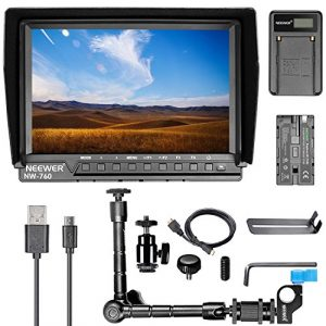 Neewer NW-760 Kit de Moniteur de Caméra 7 Pouces IPS Écran pour Sony Nikon Olympus Pentax Panasonic avec Moniteur,Bras Magique,Chargeur de Batterie,F550 Batterie de Remplacement