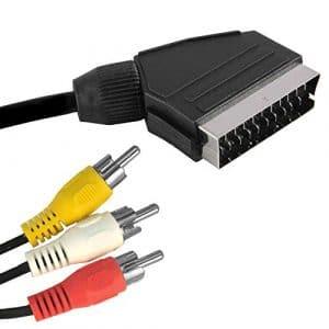 vetrineinrete® Câble péritel Adaptateur 3Prises RCA utile avec Hi-FI 1,5MT pour Connexion Audio vidéo d84