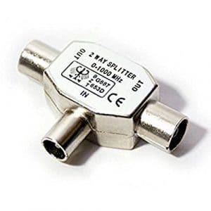 Doubleur Splitter diviseur Ladron De Deux voies pour signal de câble coaxial de radio et television tv numérique 2384