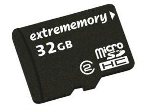 Extrememory SDmicroHC EM Carte mémoire 32 Go avec adaptateur