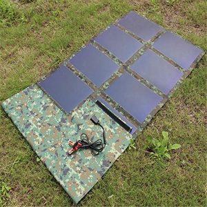 FOUR Chargeur Solaire, extérieur Portable Panneau Solaire léger Chargeur Solaire Compatible avec Tous Les téléphones Mobiles
