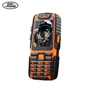 GUOPHONE A6 Téléphone Portable Débloqué étanche antichoc Dual Sim 2.4″ 32 Mo de RAM et 32 Mo de ROM Power Bank Long Standby CellPhone