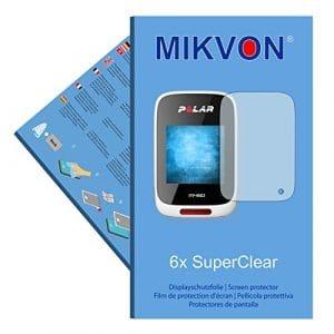 MIKVON 6X SuperClear Film de Protection d'écran pour Polar M450 – Transparent – Fait en Allemagne