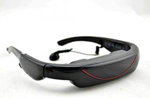 Portable Eyewear 72 «écran large 16:9 Lecteur multimédia portable Vidéo Lunettes Virtual Theatre 4 Go