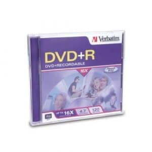 VERBATIM DVD + R 4.7 Go 16 x 1PK Jewel Case