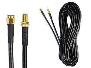 vetrineinrete Câble rallonge pour antenne WiFi Routeur Modem sans Fil RP-SMA mâle Femelle 35et 10Mètres 10 MT