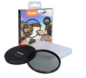 Rollei Extremium Round Filter CPL 67 mm (1 Stop) – Filtre polarisant (Polarisateur) avec Anneau en titane en verre Gorilla avec revêtement spécial – Taille: 67 mm