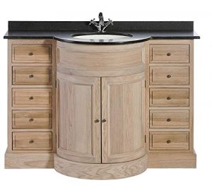 Signature Meuble lavabo Haussman en chêne à tiroirs