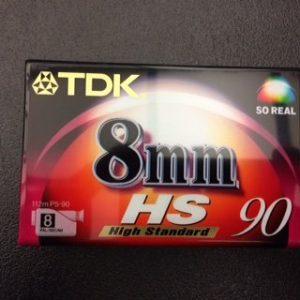 TDK – P5-90HSEQ 8mm – Cassette 90 minutes – Pour caméscope 8 mm