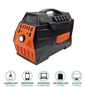 TIANQING Générateur de Courant portatif 500 W, Bloc d'alimentation Rechargeable, avec 4 Ports USB, 2 Ports CA, adapté aux sauvegardes d'urgence en Mode PPC ou Domestique [Classe énergétique A],Red