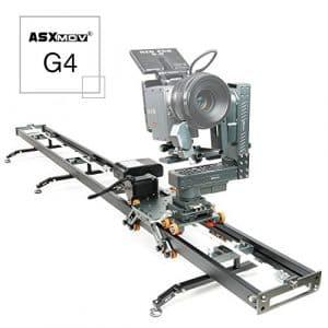 Asxmov-g4sans fil Heavy Duty Motion Control Dolly piste Video Camera Slider pour Timelapse