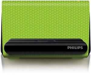 Philips Enceinte portable SBA1710GRN/00 – Enceintes portables (4 W, 200-20000 Hz, 4 Ohm, Avec fil, Vert, Autres)