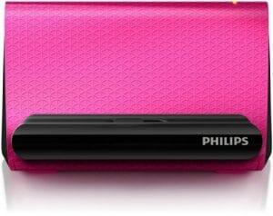 Philips Enceinte Portable SBA1710PNK/00 – Enceintes Portables (4 W, 200-20000 Hz, 4 Ohm, avec Fil, Rose, Autres)