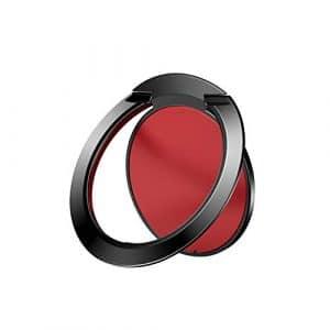 TLfyajJ Support de téléphone Universel Ultra Fin en métal à 360 degrés/Prise en Main Confortable et sûre pour éviter Les Chutes Rouge