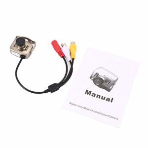 Argenté IR CCTV Mini caméra Sécurité Couleur Vision Nocturne Enregistreur vidéo Infrarouge Installation Facile Haute définition