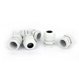 3/4 NPT Compression étanche Cable Glands 16-21mm 6 Pcs Blanc