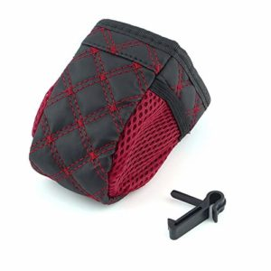 Mini Car Tuyere Grocery Bags Car Bag Cell Phone Pocket Car Pouch Glove Black-Red Car Storage Outlet Auto Car Accessory