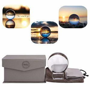 Photographie de boule de cristal K9 Glass Suncatcher Ball Avec Pochette Décorative Avec Support (Ensemble 60mm)
